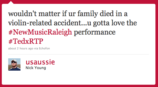 Referring to 'New Music Raleigh'